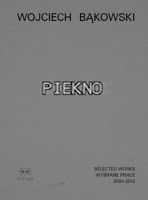 Wojciech Bąkowski, Selected works 2004-2012 / Wybrane prace 2004-2012, okładka książki