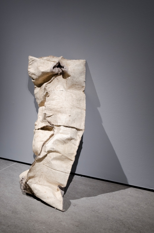 Izabela Tarasewicz, Uniform, 2011, skóra zwierzęca, materiał.