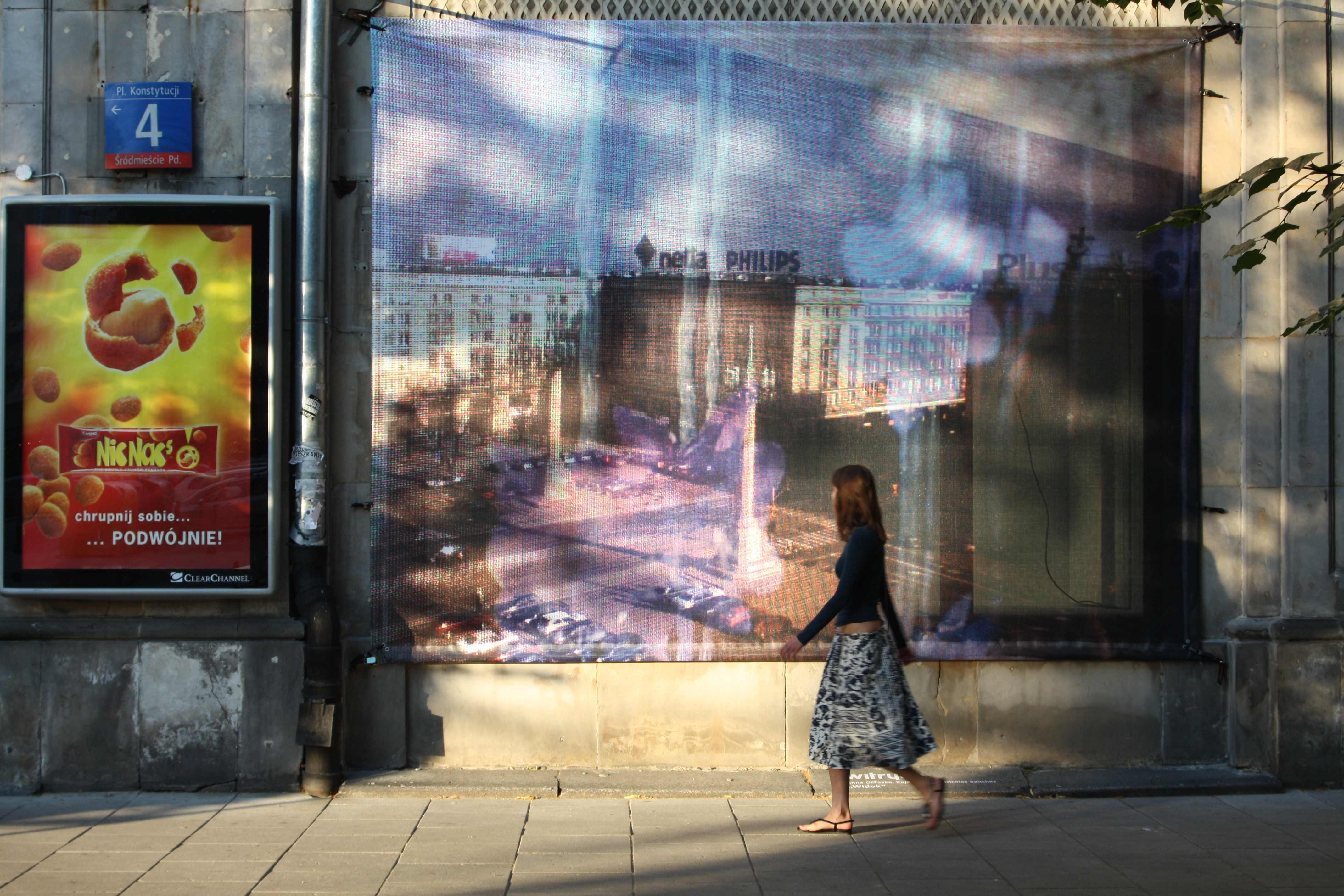"""Anna Okrasko, Kaja Pawełek, Nicolas Sanchez """"Widok"""", 2008, fot.dzięki uprzejmości Witryny"""