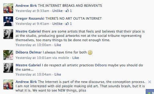 Artyści post-internetowi dyskutują osztuce
