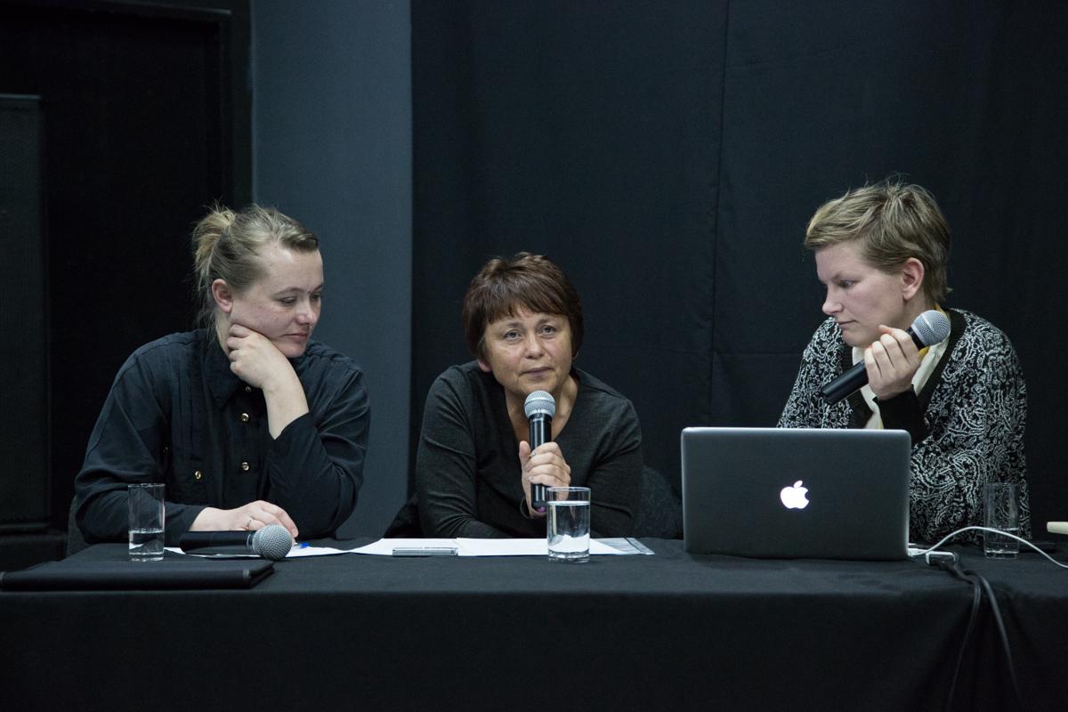Spotkanie zLaure Provost wCSW Łaźnia, 15.04.2014, fot.Wojtek Skrzypczyn
