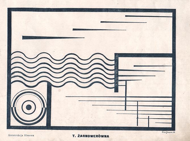 """Teresa Żanowerówna, """"Kompozycja filmowa"""", 1924;  Blok 1924"""