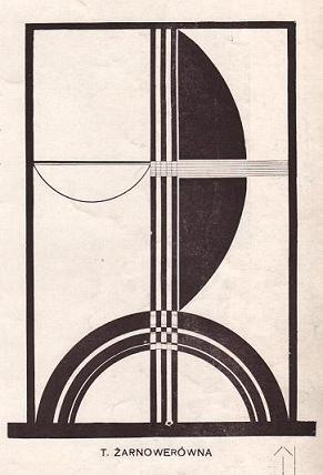 Teresa Żarnower, Beztytułu (Kompozycja typograficzna), 1924, wBlok, nr8-9 (1924)