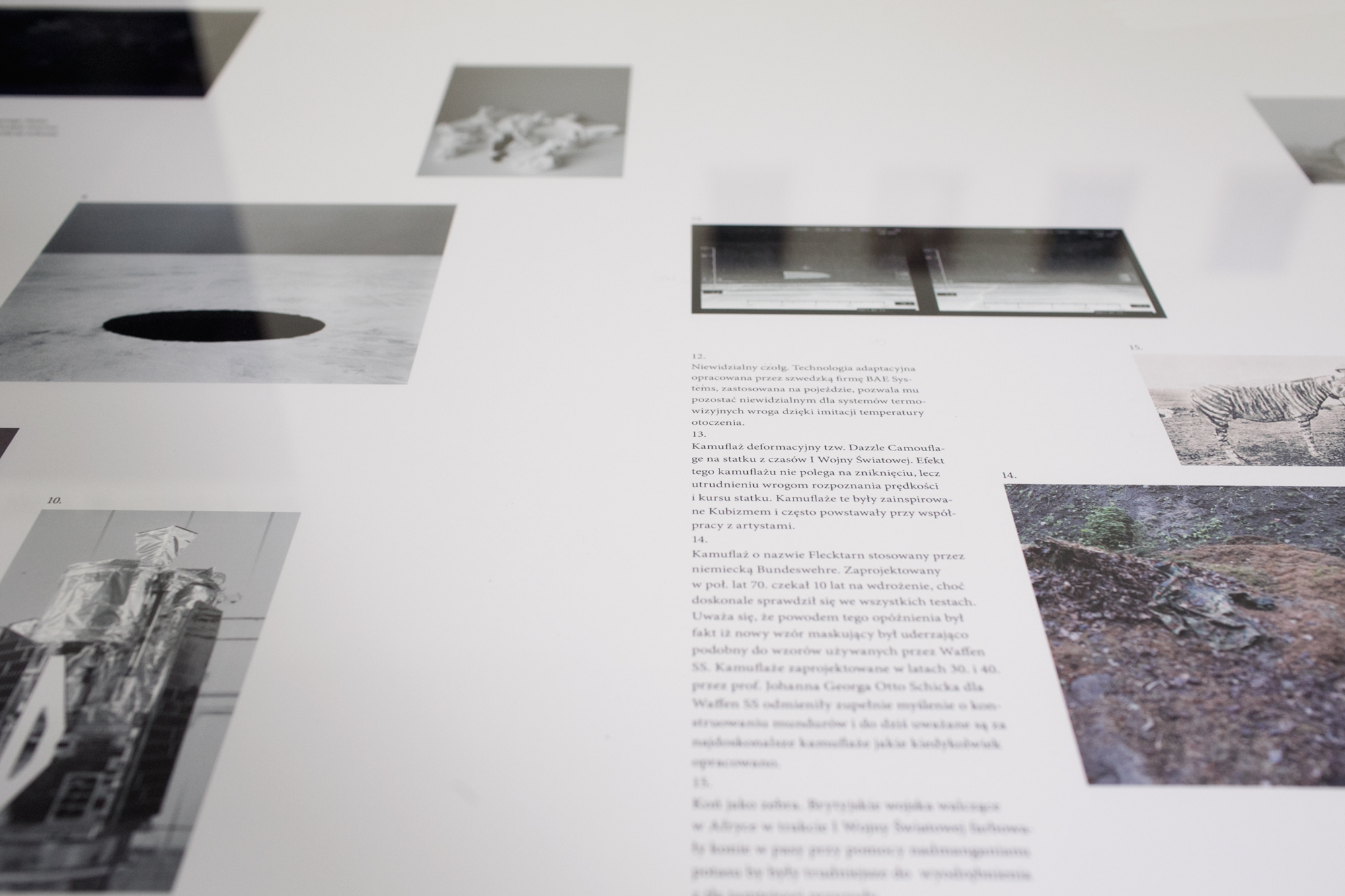 """Anna Orłowska, """"Niewidzialność - studium przypadku"""", galeria Asymetria, widok wystawy"""