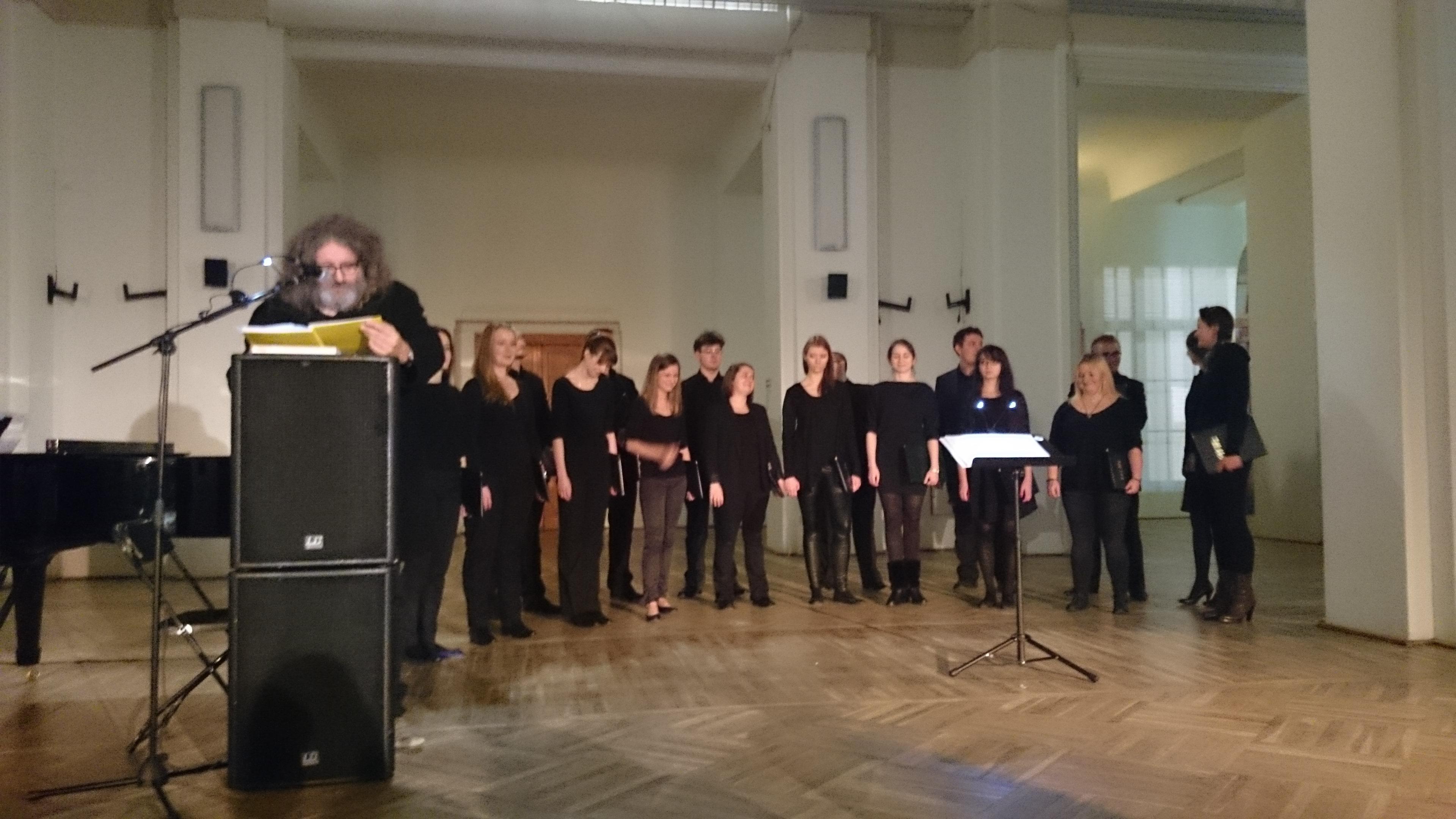 Koncert Tomasza Gwicińskiego iChóru Kameralnego 441 Hz, Festiwal Narracje, 15.11.2014