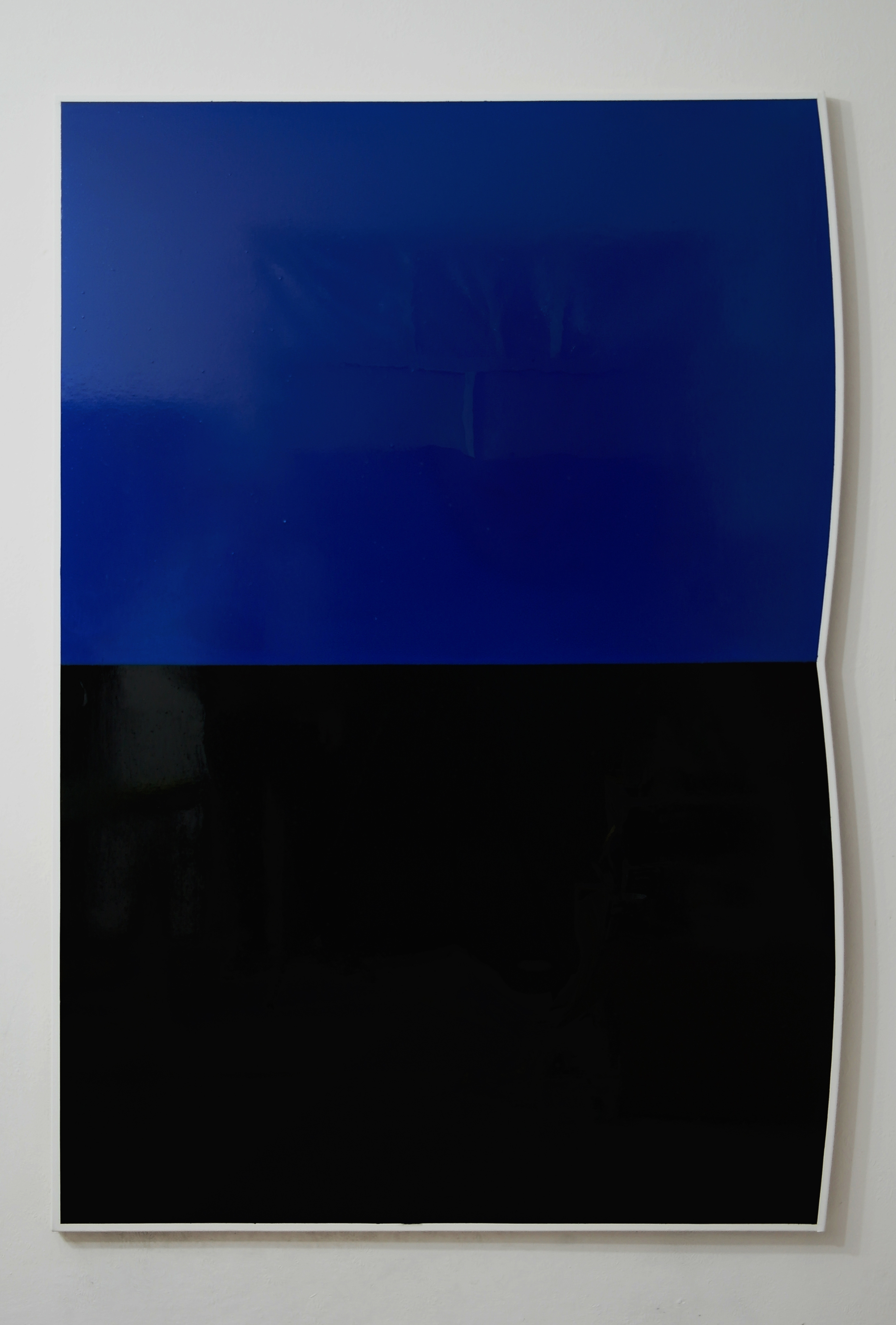 Tomek Baran, nr071f75, 2014, emalia napłótnie, 180 x 123 cm