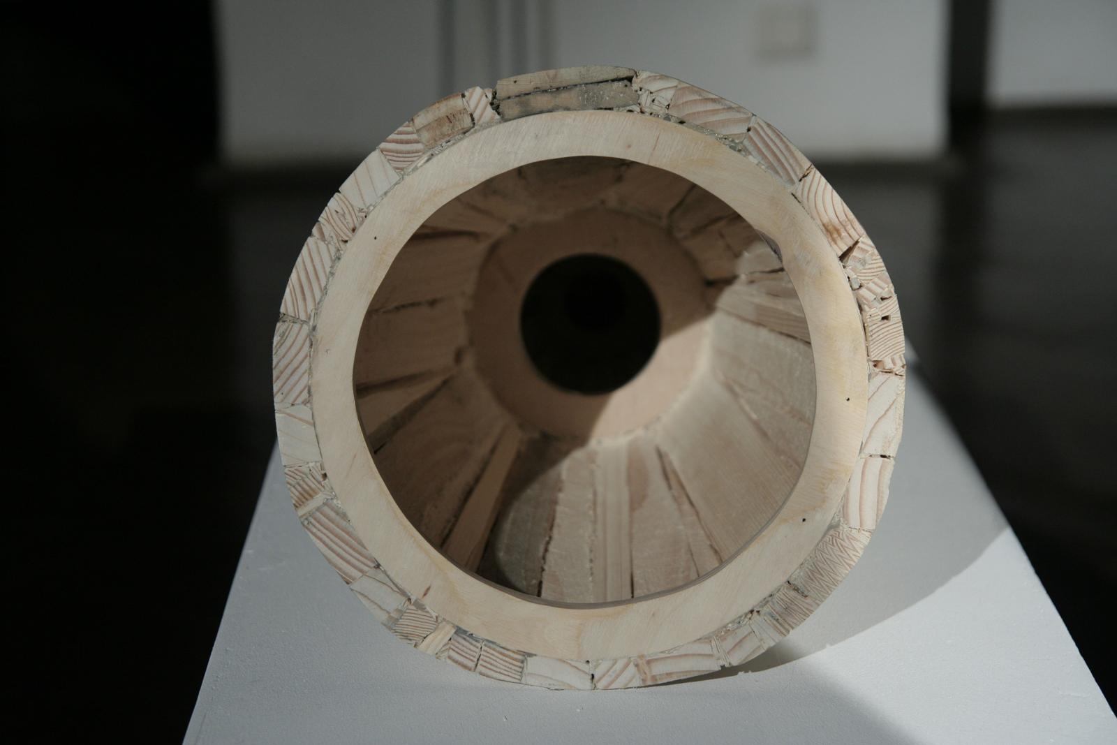 Szymon Kobylarz, Przyrost (1-13), obiekt, drewno, 2015