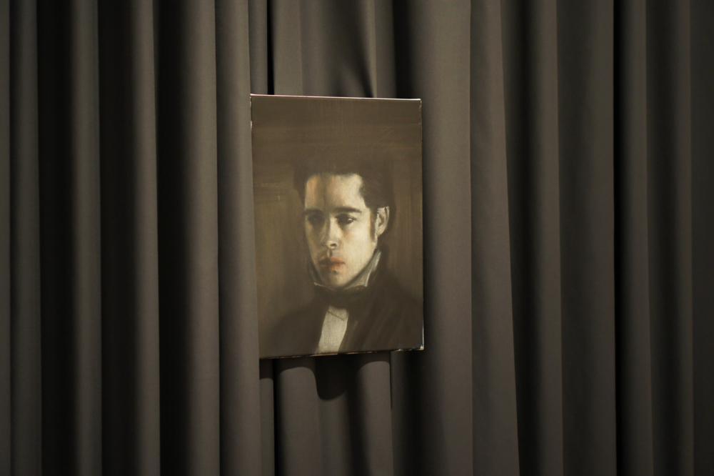 Łukasz Stokłosa, Louis de Pointe du Lac, Brad Pitt, olej napłótnie, 40 x 30 cm, 2014