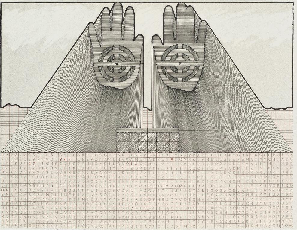 Jozef Jankovič, projekt pomnika słowackiej rzeźby, 1976r.