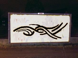 Realism (new logotype) - spray on billboard - wirtualna przestrzeń  Michał Linow Wrocławia - 2015