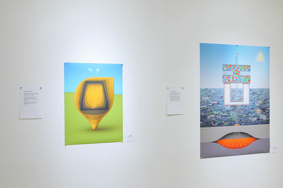 """Portret Piotra Stasika"""", druk cyfrowy, 130x110 cm, 2014;  """"Portret Tomasza Chmala"""", druk cyfrowy, 80x60 cm, 2014"""