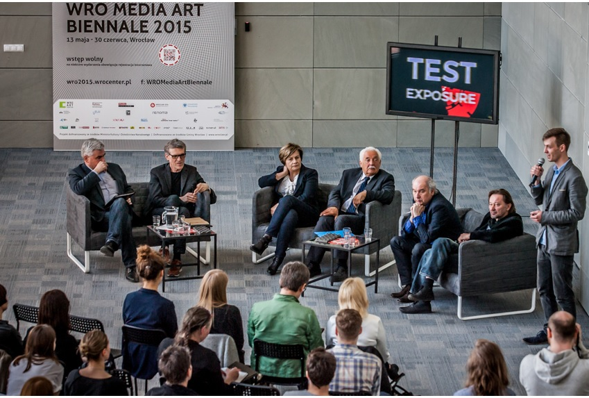 Konferencja prasowa Biennale WRO2015; fot.Marcin Maziej