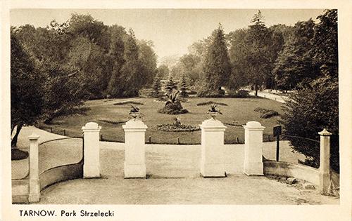 Park Strzelecki, przedwojenna karta pocztowa zkolekcji Marka Tomaszewskiego
