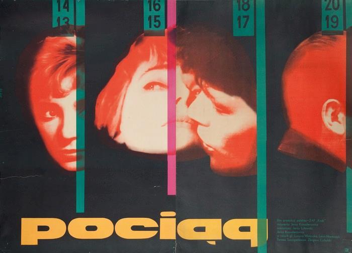 Wojciech Zamecznik, plakat dofilmu Pociąg, 1959