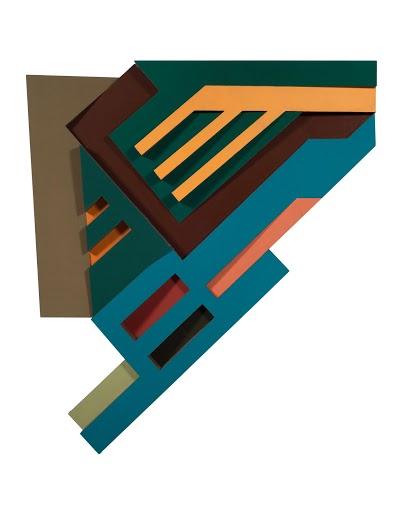 Frank Stella, Okienniki III, 1972, dzięki uprzejmości artysty