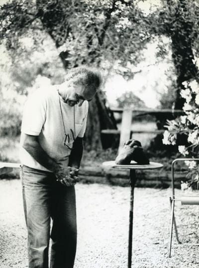 Eduardo Chillida, Grasse, 1984, fot.Hans Spinner