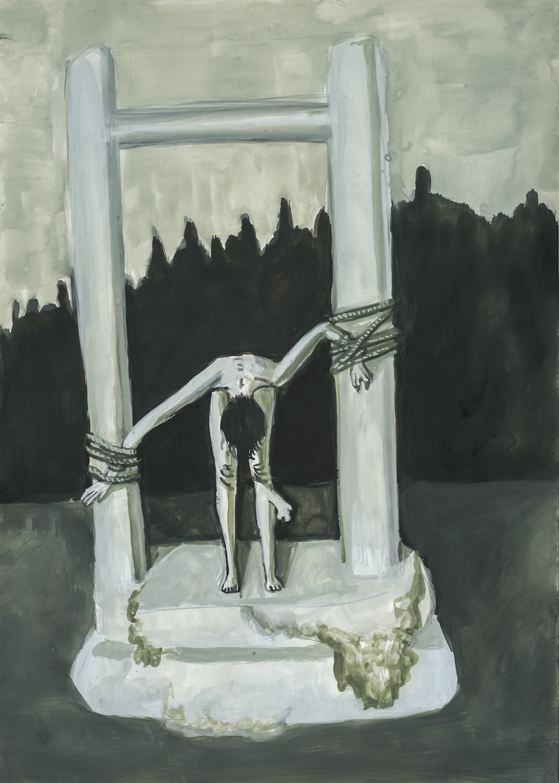 Aleksandra Waliszewska, Bez tytułu, 35 x 25 cm, technika mieszana nakartonie, 2012-2014 dzięki uprzejmości artystki iLETO, Warszawa