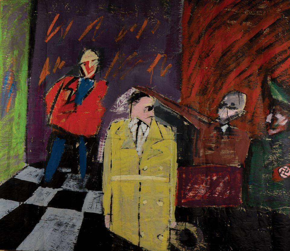 Paweł Kowalewski, Adolf Hitler iJózef Goebbels otwierają wystawę sztuki zdegenerowanej wMonachium, 1986