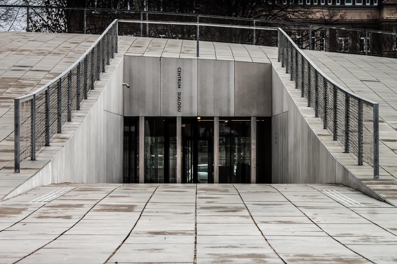 fragment budynku Centrum Dialogu Przełomy wSzczecinie