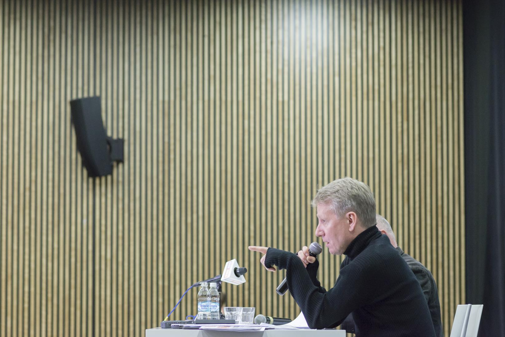 """Wacław Kuczma, Marek Żydowicz, konferencja CSW """"Znaki Czasu"""" w Toruniu"""