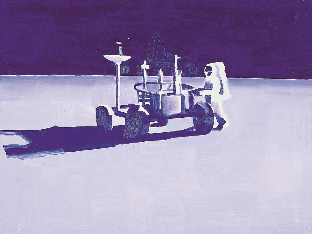 Wilhelm Sasnal, Moon, 2000