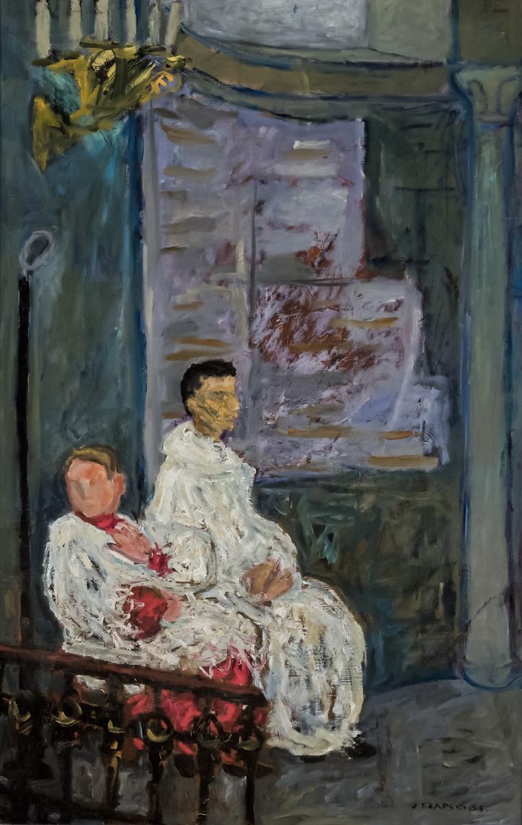 Józef Czapski, Ministranci, farba olejna, płótno, 91 x 60 cm, fot.MNK