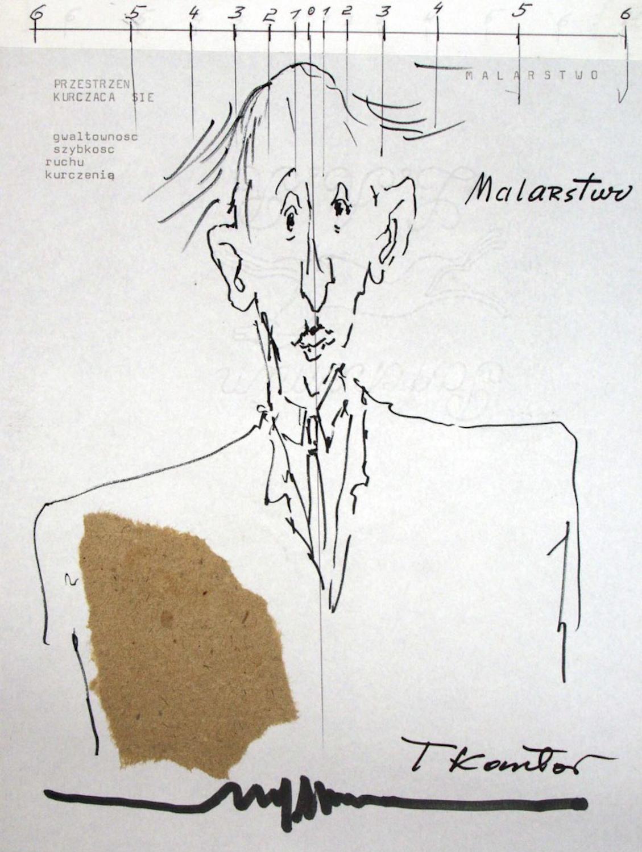 Tadeusz Kantor, Rysunek do Lekcji mediolańskich, Mediolan 1986, kolekcja prywatna.