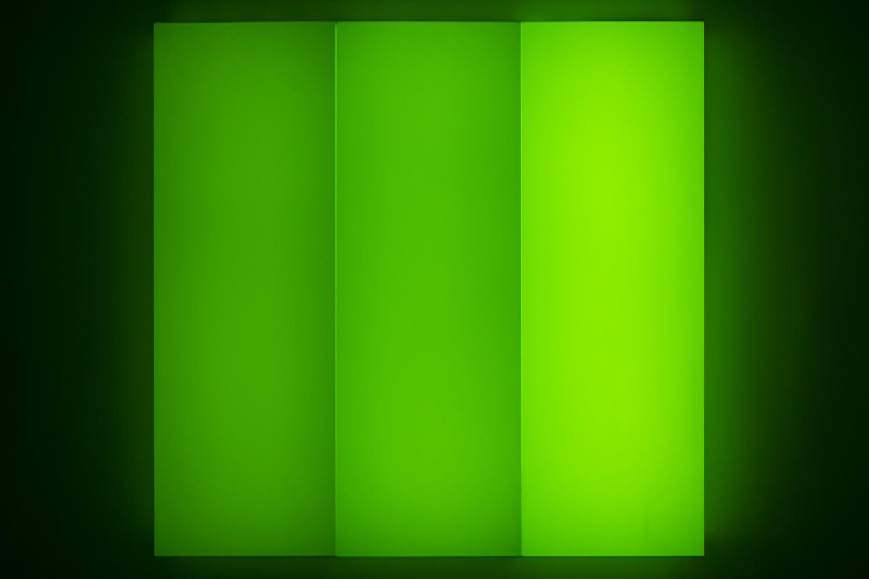 Leon Tarasewicz, bez tytułu, plexi, LED 180×180×20 cm, 2016