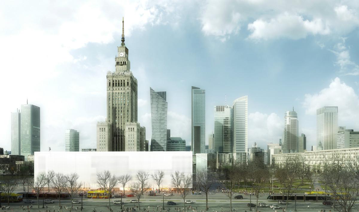 Wizualizacja budynków MSN iTR napl. Defilad, Thomas Phifer and Partners