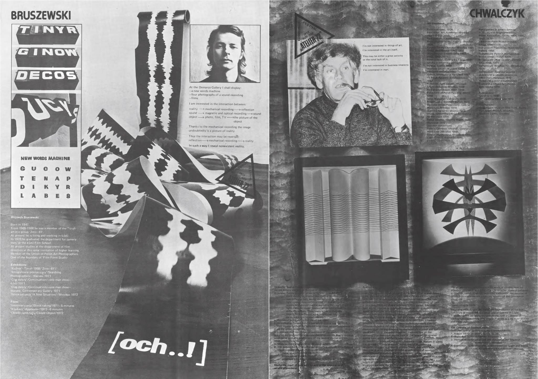 fragment katalogu wystawy Atelier 72
