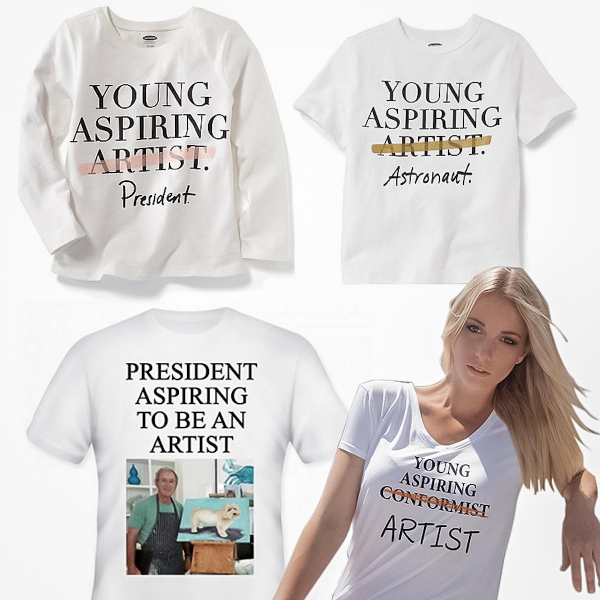 koszulki Old Navy orazwybrane przykłady przeróbek internautów