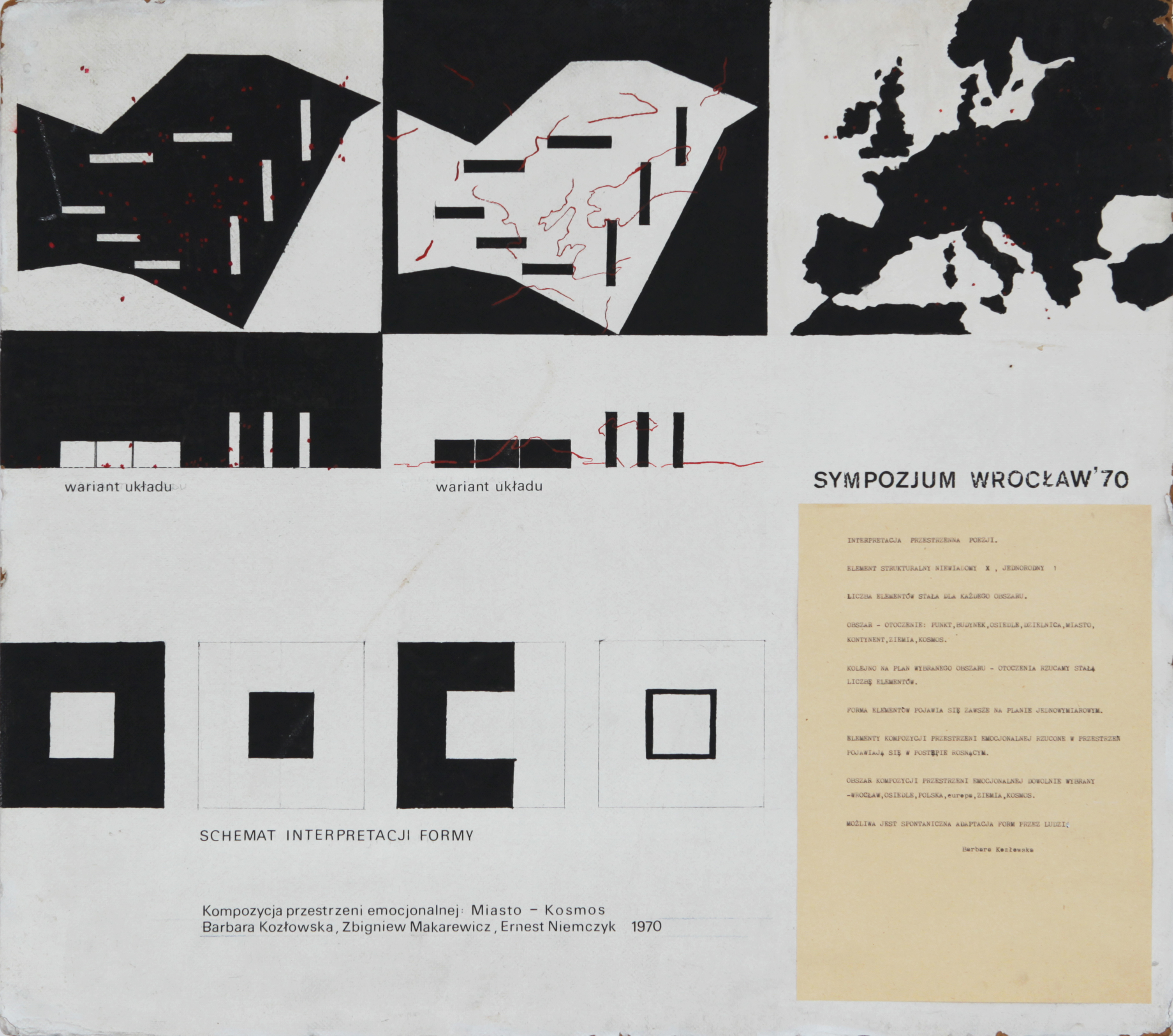 Barbara Kozłowska, Zbigniew Makarewicz, Ernest Niemczyk, Miasto-Kosmos, projekt, Sympozjum Plastyczne Wrocław 70, 1970