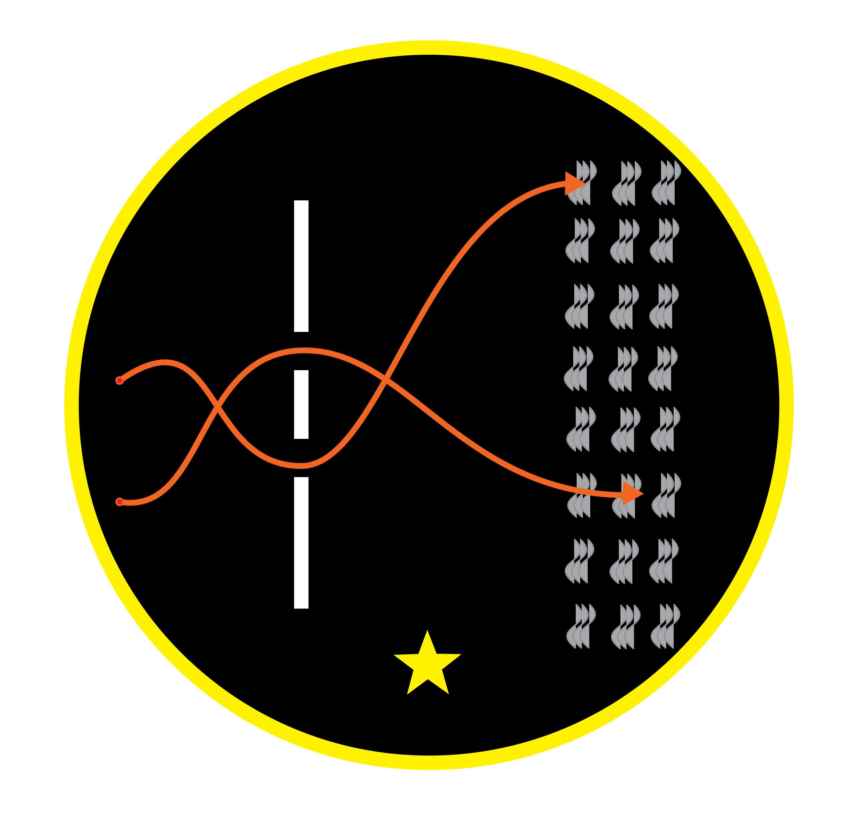 Matej Vakula, logotyp Space Ship Jasny Dom, nawiązujący dodoświadczenia Younga
