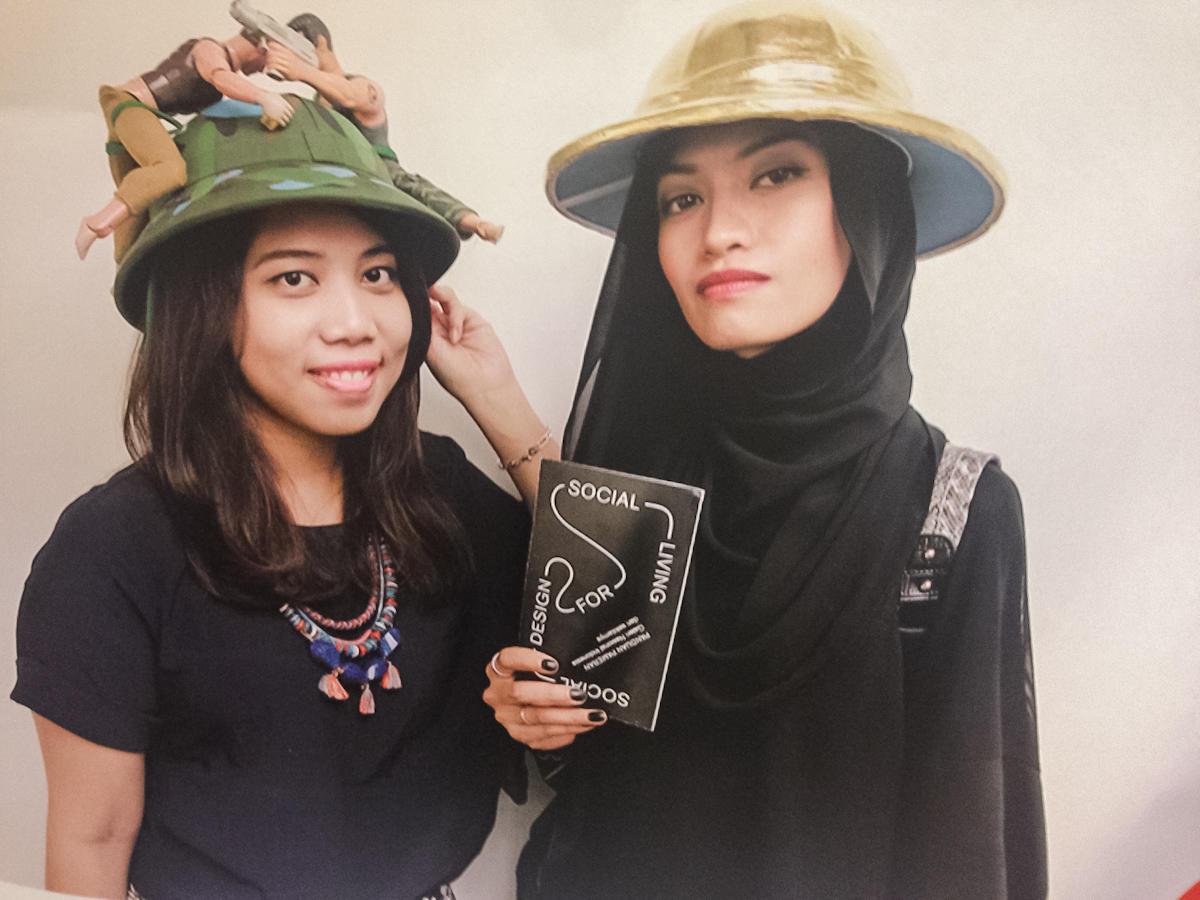 Projekt Hati Hati Hat Justyny Górowskiej iAdama Gruby wramach projektu Social Art For Social Living, Galeria Narodowa wDżakarcie, 2016