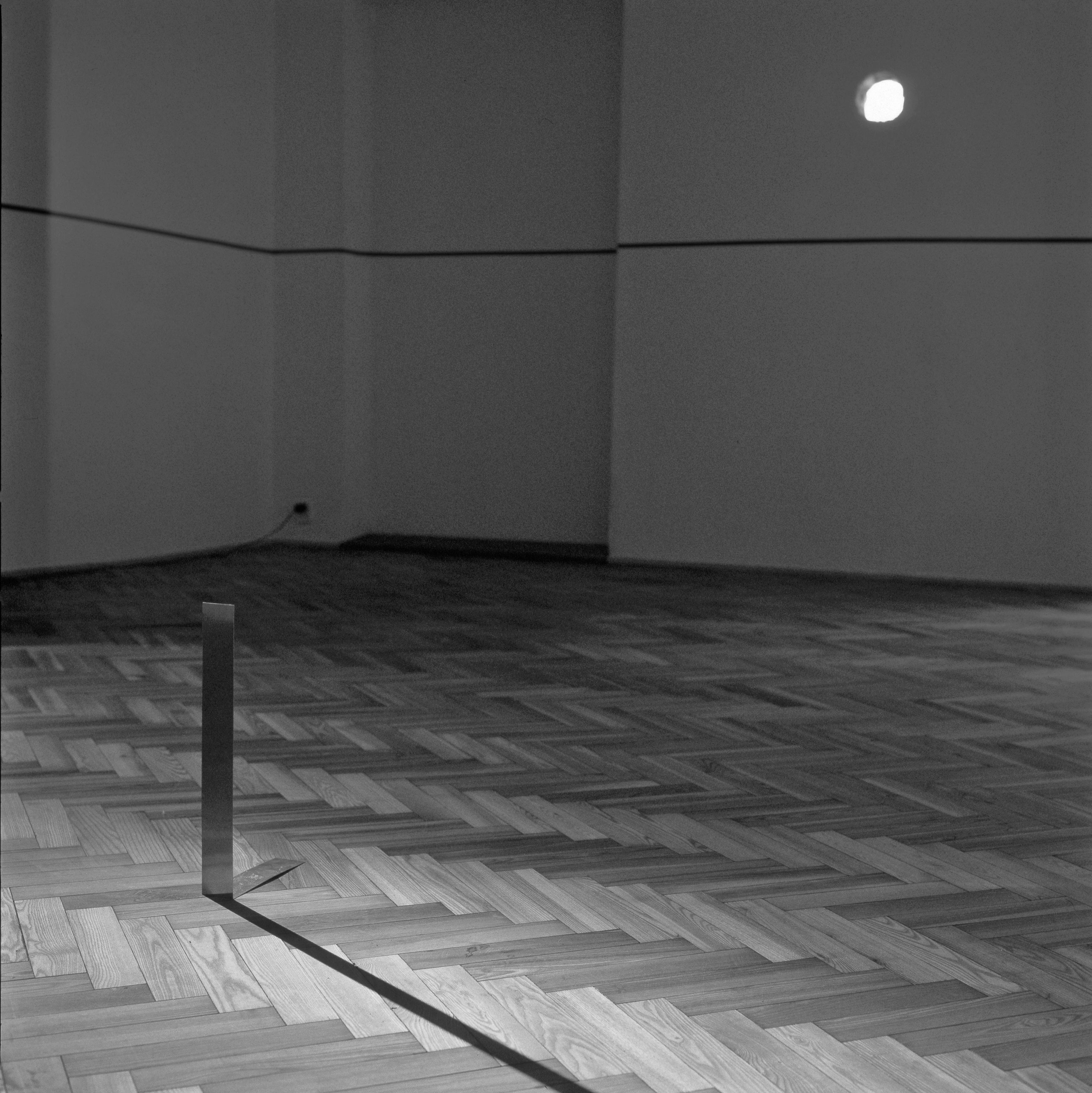 Koji Kamoji, Niebieski pasek icień, Galeria Foksal, 2004