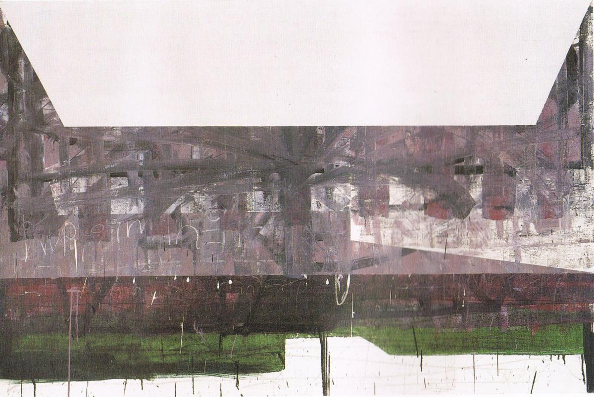 Moshe Kupferman. Painting 107, 1994, olej napłótnie, 130x195 cm