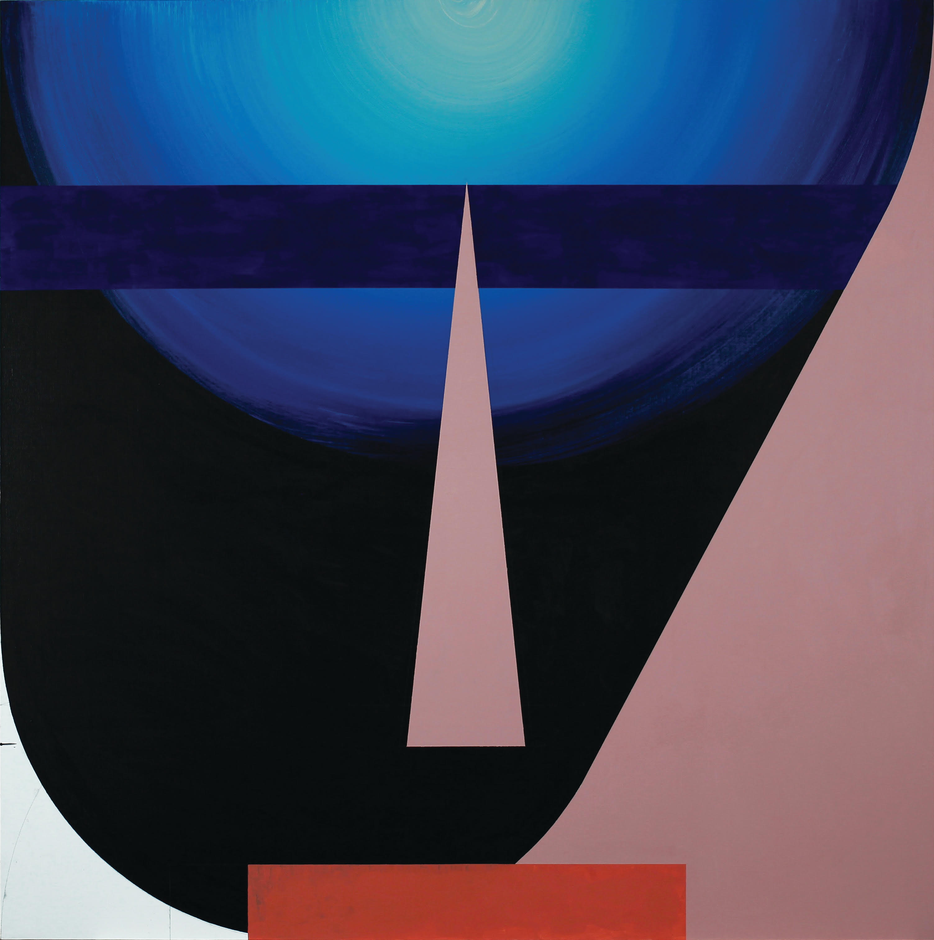 Agata Bogacka, Portrait Composition, 2016, akryl napłótnie, 120 x 120 cm