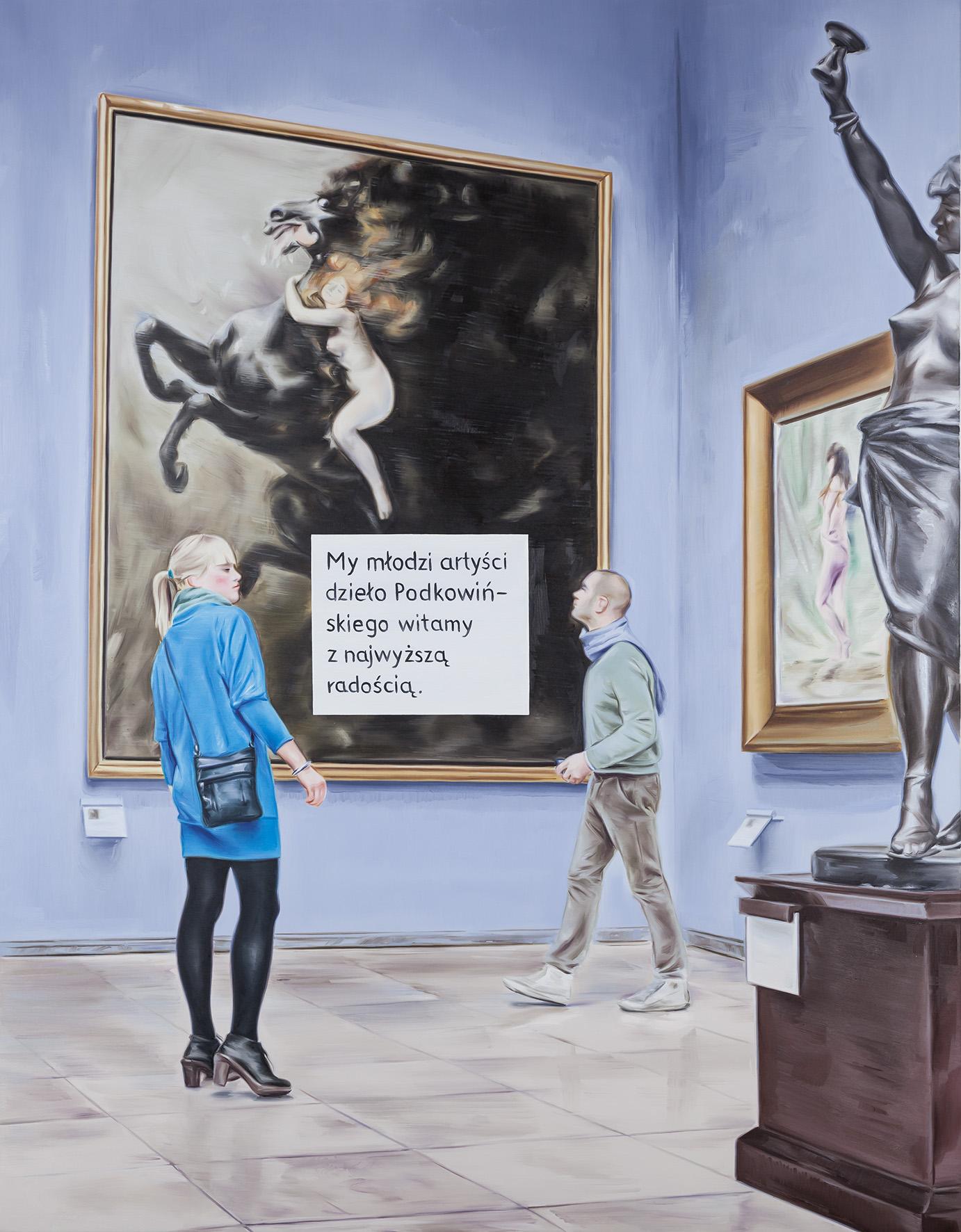 Marcin Maciejowski,My, młodzi artyści…, 2014, olej / płótno,180 x 140 cm, Kolekcja MOCAK-u