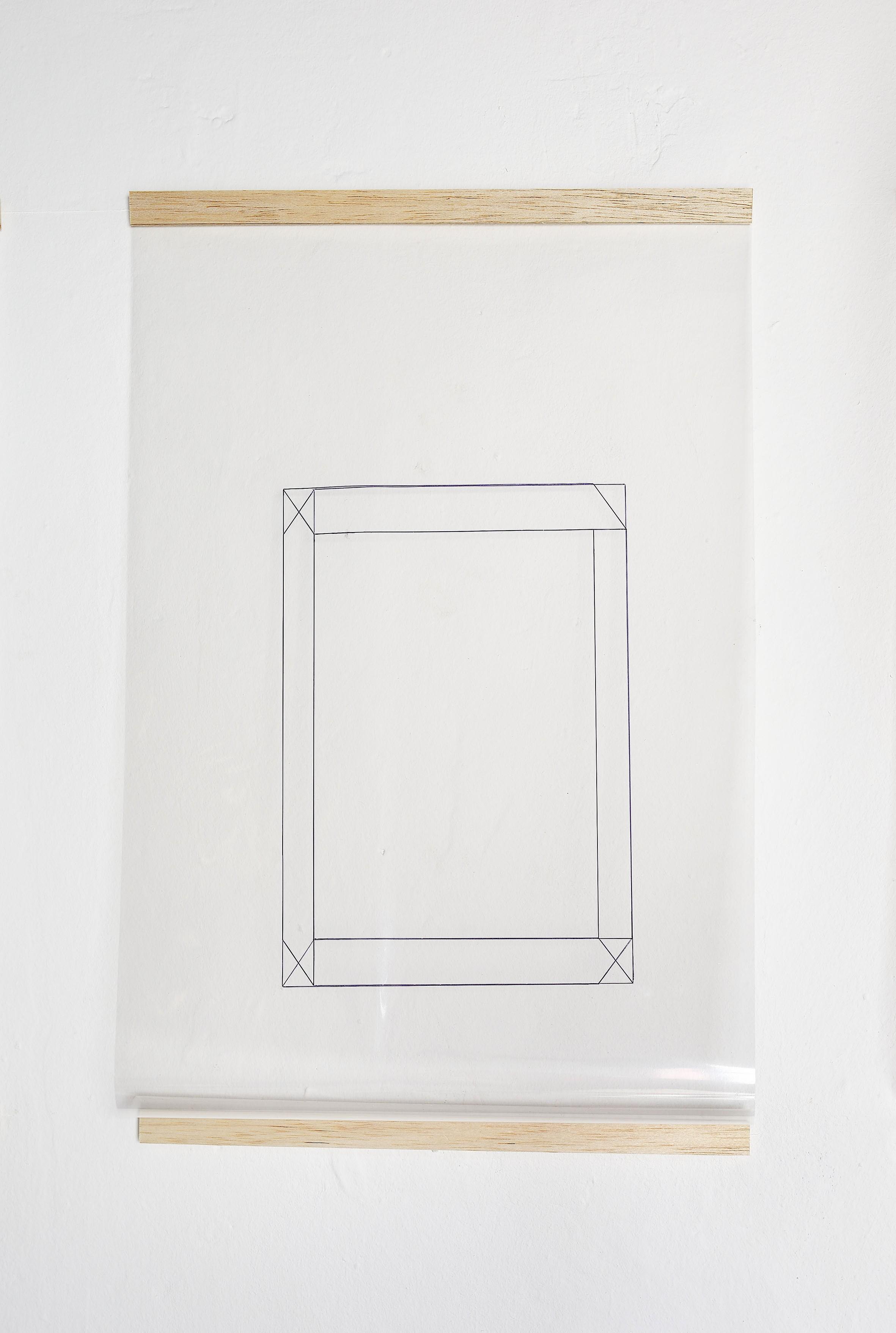 Gizela Mickiewicz, Zadużo żebyrozpoznać, pisak nafolii transparentnej, 2013