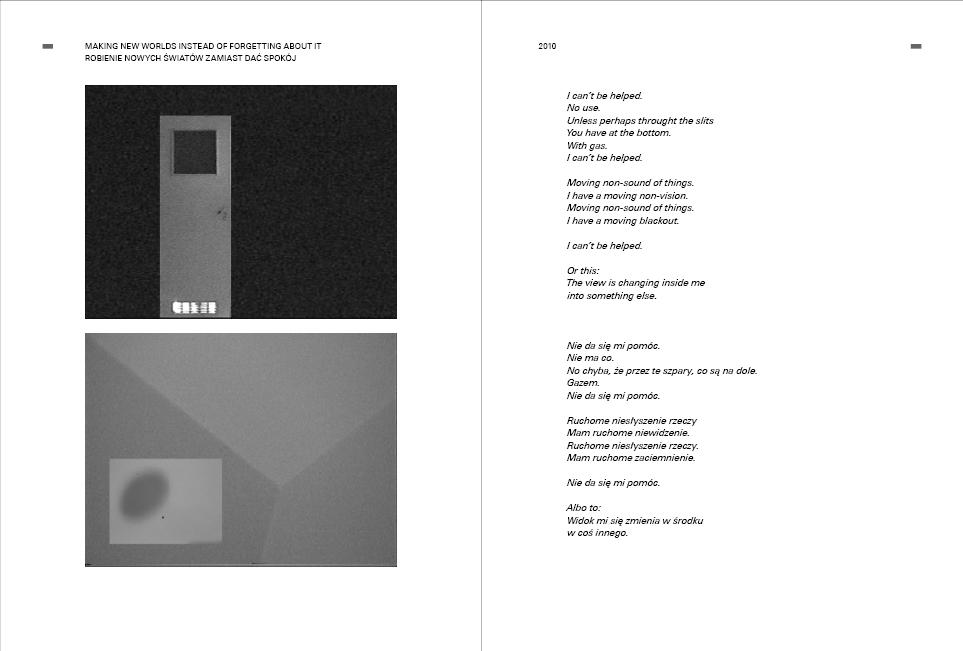 Wojciech Bąkowski, Selected works 2004-2012 / Wybrane prace 2004-2012, fragment książki