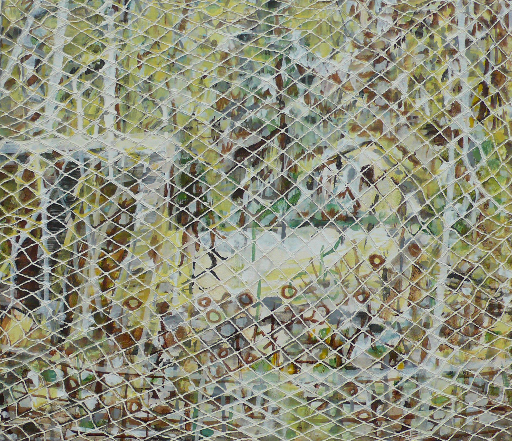 Ogródki rodzinne (12 elementów), olej napłótnie, 43 x 50 cm każdy, 2013