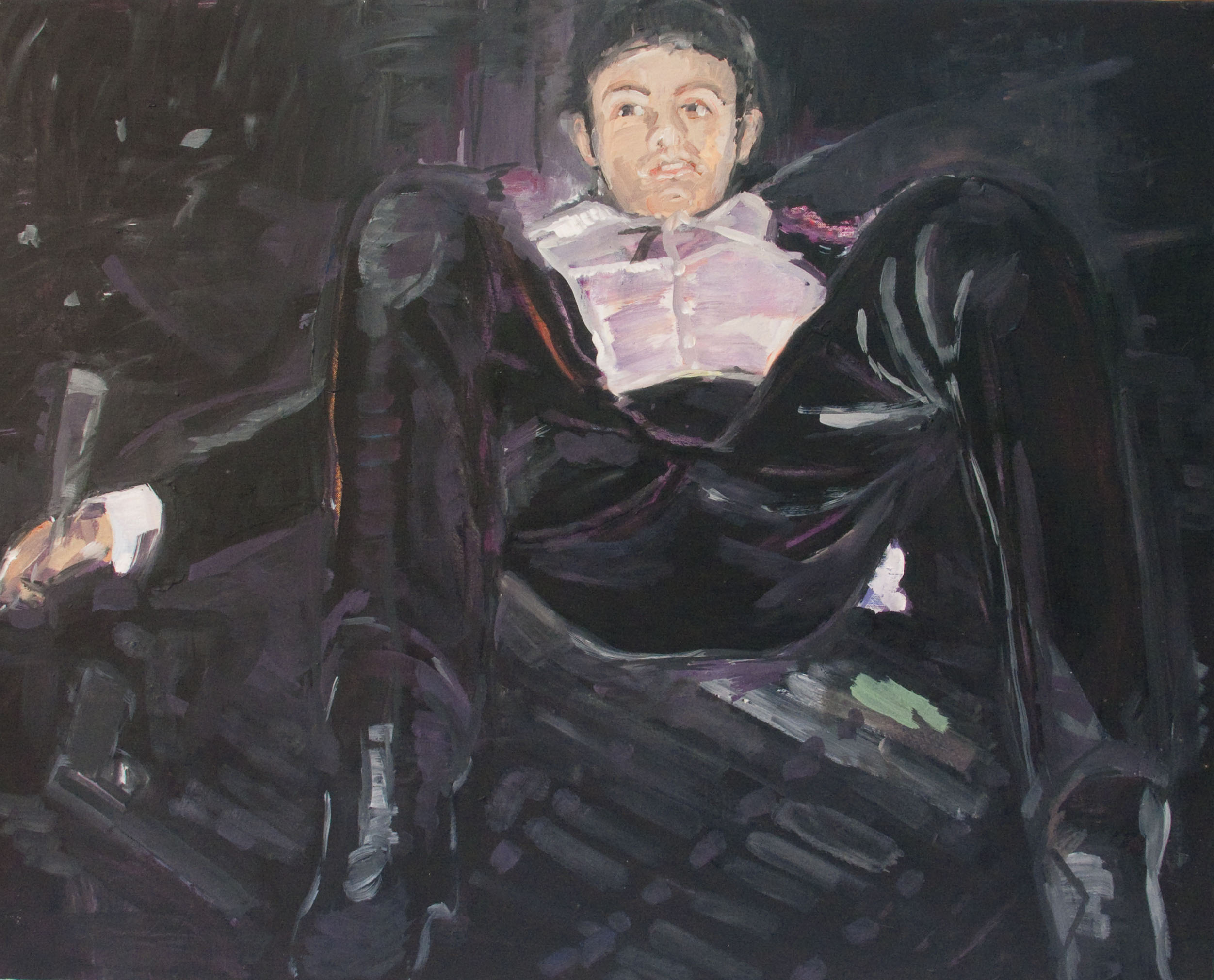 Sex Addict (Julian), olej napłótnie, 80 x 100 cm, 2013