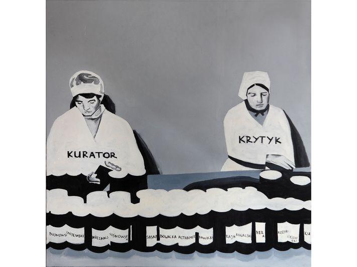 The Krasnals. Whielki Krasnal, Fabryka marzeń, 2008, olej napłótnie