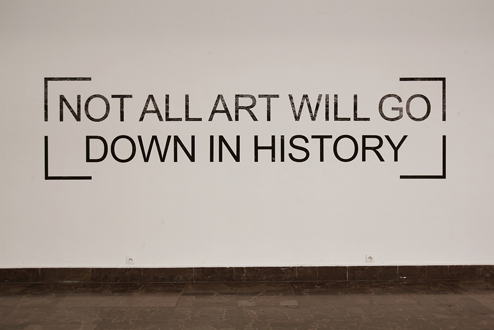 Maria Anwander_Not all art will go down in history