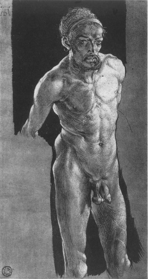Olafa Brzeskiego autoportret zDürerem