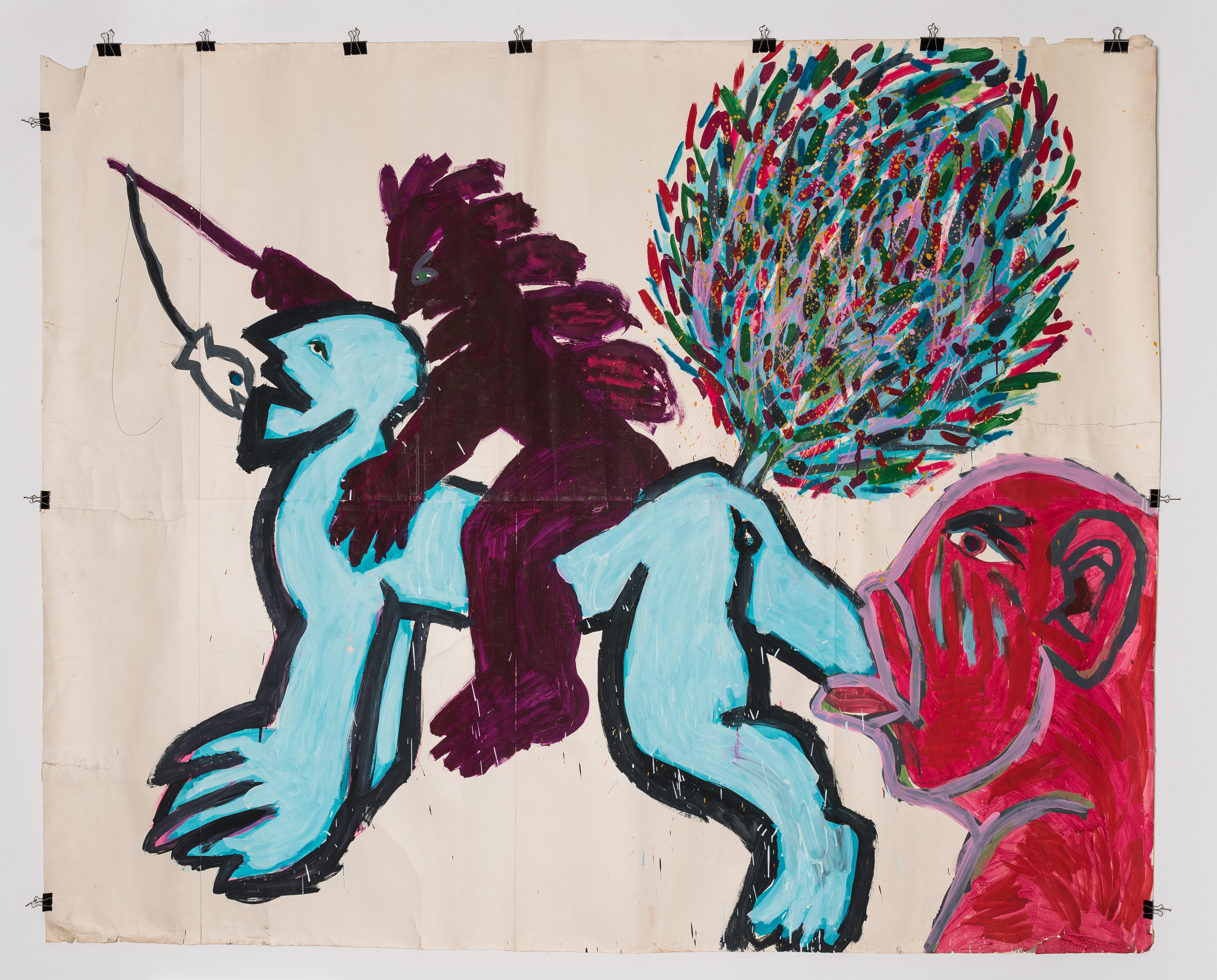 Gruppa: Ryszard Grzyb, Pocałunek wodbyt grześnika (zakcji wDziekance), 1986