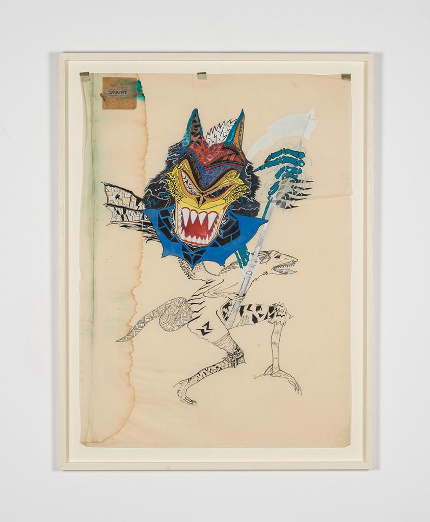 Ewa Ciepielewska, beztytułu, 1984, akwarela, 101 x 72.5 cm. Dzięki uprzejmości Piktogram/BLA