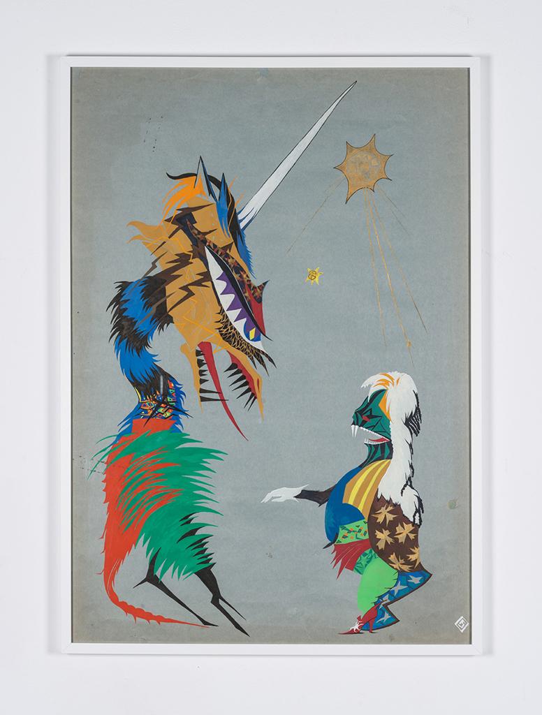 Ewa Ciepielewska, beztytułu, 1984, akwarela, 90.6 x 70.2 cm. Dzięki uprzejmości Piktogram/BLA