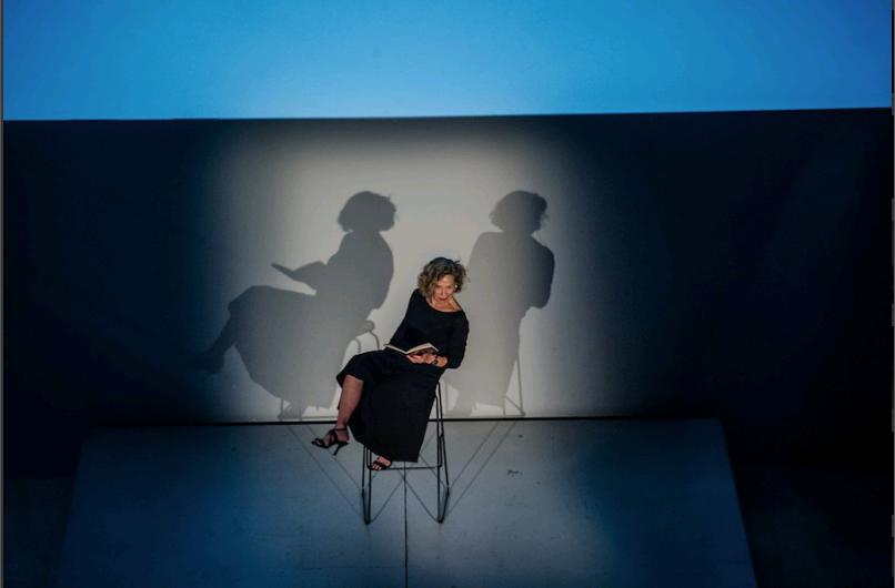 Prezentacja projektu The Book Lovers, MSN wWarszawie, performans napodstawie powieści Guy de Cointet, podtytułem Espahor Ledet Ko Uluner!, fot.StudioFILMLOVE