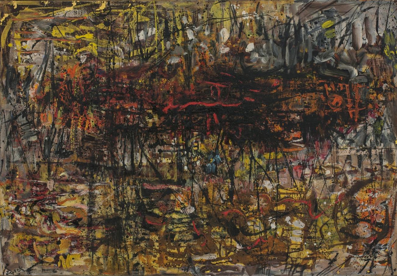 Teresa Tyszkiewiczowa, beztytułu, ok. 1957, olej, płótno, 85,5 x 115 cm, własność Jana W. Ledóchowskiego
